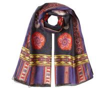 Print-Schal mit Wolle und Seide