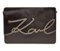 Umhängetasche K/Signature Luxe aus Leder und Kalbsfell