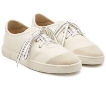Sneakers Lia aus Leder und Veloursleder
