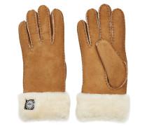 Handschuhe aus Veloursleder mit Schaffell