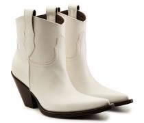 Ankle Boots im Cowboy-Stil aus Leder