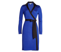 Drapiertes Kleid im Color Block Look