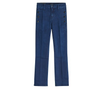 Cropped Mid Rise Boot Cut Jeans Zion
