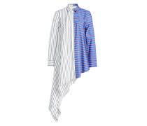 Asymmetrische Bluse aus Baumwolle mit Streifen
