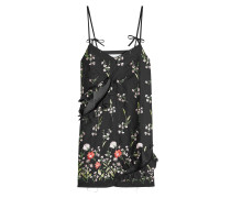 Besticktes Slip Dress mit Baumwolle und Cut Outs