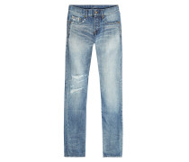 Slim Jeans mit Destroyed Details