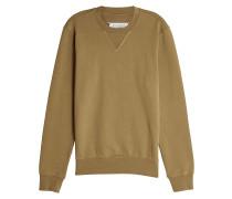 Sweatshirt aus Baumwolle mit Ellenbogen-Patches