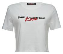 Cropped T-Shirt aus Baumwolle