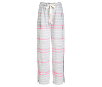Gestreifte Wide Leg Pants aus Baumwolle