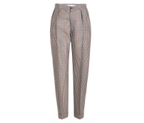 Gemusterte Cropped Pants aus Wolle, Mohair und Seide