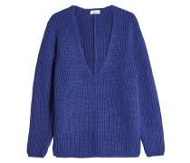 V-Pullover aus Alpakawolle
