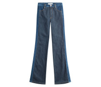 Flared-Jeans im Two-Tone-Look