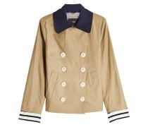Jacke mit Leinen und Baumwolle