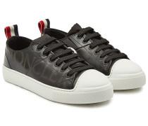 Bedruckte Sneakers Linda aus Leder und Lackleder