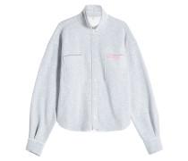 Cropped Sweaterjacke aus Baumwoll-Jersey