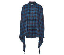 Asymmetrische karierte Bluse aus Baumwolle