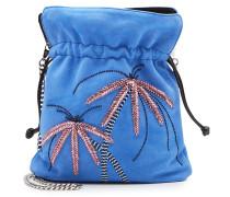 Verzierte Bucket Bag Trilly Palms aus Velours-Ziegenleder