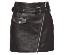 Leder-Minirock mit Zippern