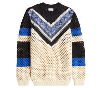 Gemusterter Pullover aus Baumwolle