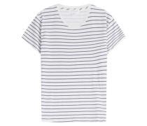 Gestreiftes T-Shirt aus Baumwoll-Stretch