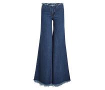 Wide Leg Jeans mit Fransen