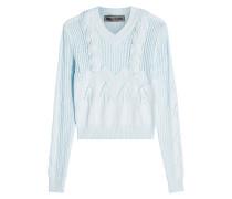 Zopfstrick-Pullover aus Baumwolle