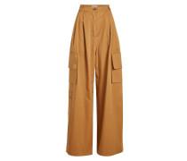 Wide Leg Pants aus Baumwolle