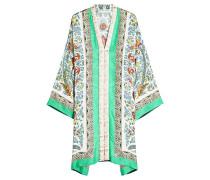 Besticktes Tunika-Kleid mit Seide