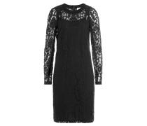 Cocktail-Kleid aus Baumwolle mit Spitzen-Overlay