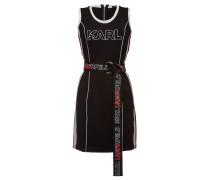 Bedrucktes Minikleid aus Jersey mit Logo-Gürtel