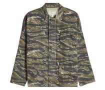 Bestickte Camouflage-Jacke aus Baumwolle und Leinen