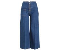 Wide Leg Jeans mit hohem Bund