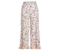 Wide Leg Pants mit Print und Volants