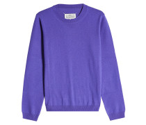 Pullover aus Wolle und Veloursleder-Patches