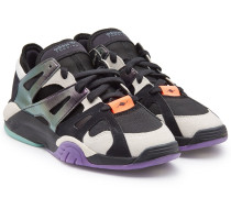 Sneakers Dimension Lo aus Veloursleder und Mesh