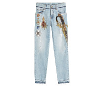 Straight Leg Jeans mit Décor