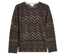 Gemusterter Pullover aus Wolle