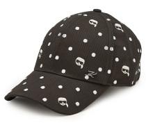 Bestickte Basecap Karl Dots aus Baumwolle
