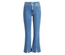 Cropped Flared Jeans Marty mit geschlitzten Säumen