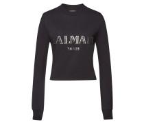 Verziertes cropped Sweatshirt aus Baumwolle