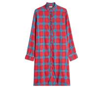 Kariertes Blusenkleid aus Baumwolle