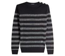 Gestreifter Pullover mit Wolle und Lurex-Fäden