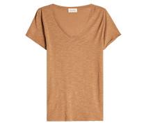T-Shirt mit V-Ausschnitt aus Baumwoll-Jersey