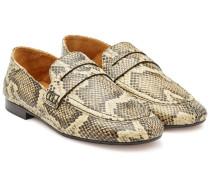 Loafers Fezzy aus Leder in Snake-Optik