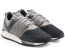 Sneakers MRL247 aus Veloursleder und Mesh