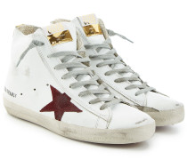 High Top Sneakers Francy aus Leder und Veloursleder