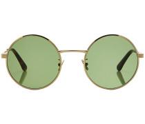 Runde Sonnenbrille mit Metallrahmen