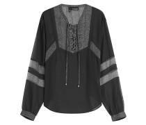 Transparente Boho-Bluse mit Schnürung