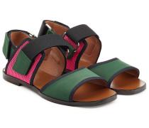 Sandalen im Colorblock-Stil