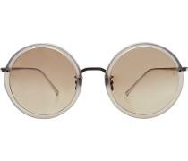 Sonnenbrille mit versilberten Bügeln